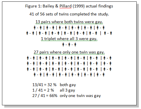 Studies on gay twins